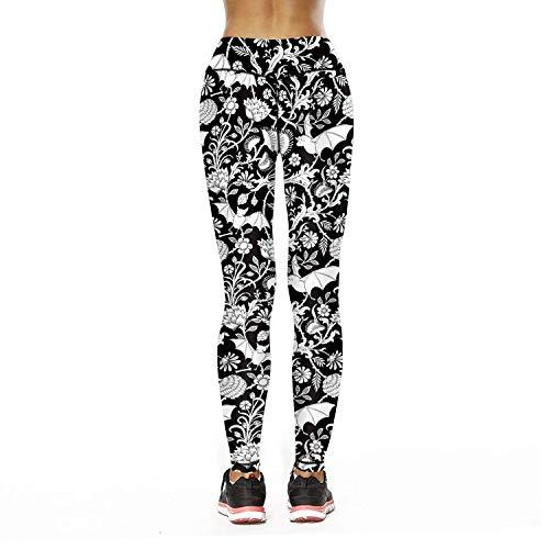 Vita Einhorn Leggings Glamorous Stretch A Fiori Yoga Sportivi Pantaloni Semplice Donna Stampati Matita In Da Elastici HZpH7
