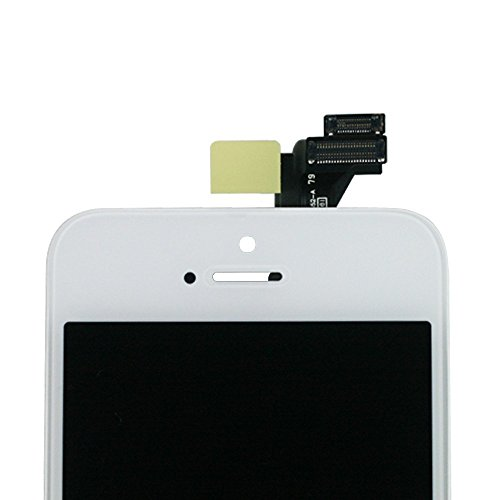 SANKA iPhone 5S LCD Screen Replacement White, Digitizer Display Retina Touch Screen Glass Frame Assembly for iPhone 5S - White (Free Tools Included) by SANKA (Image #3)
