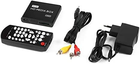 Mini Caja de Reproductor Multimedia HD Full 1080p MPEG / MKV / H.264 HDMI AV USB + Soporte Remoto MKV / RM-SD / USB / SDHC / MMC HDD-HDMI: Amazon.es: Electrónica