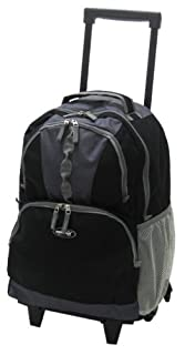 "Olympia Luggage 18"" Rolling Backpack, Black, One Size (B001TUZCTY) 
