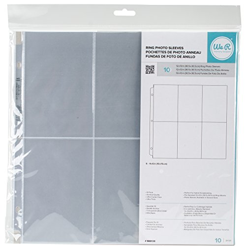 We R Memory Keepers 12 Inch x12 Inch 3-Ring Photo Sleeves - 10PK