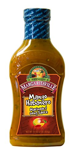 Margaritaville Mango Habanero Marinade & Wing Sauce, 16 Ounce (Best Bbq Sauce For Wings)