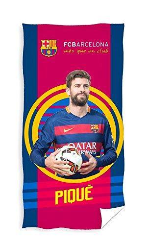 FC Barcelona - Toalla de playa/baño, 70 x 140 cm, Piqué: Amazon.es: Hogar