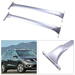 Amazon Com Cciyu 2pcs Universal Silver Aluminum Roof Rack