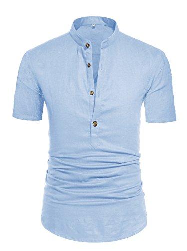 NITAGUT Henley Sleeve Daily Shirts