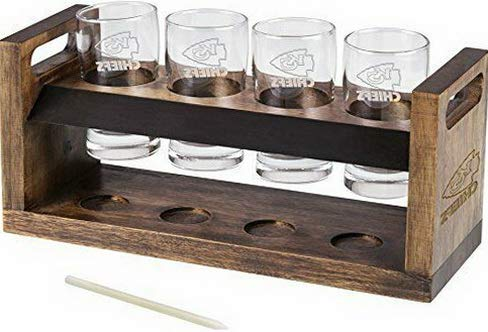 (Mikash NFL Kansas City Chiefs Craft Beer Four Glass Tasting Set TAXFREE | Model PCNCST -)