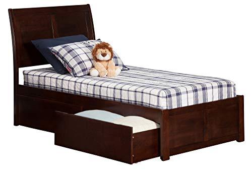Atlantic Furniture AR8912114 Portland Platform Bed with 2 Urban Bed Drawers, Twin XL, ()