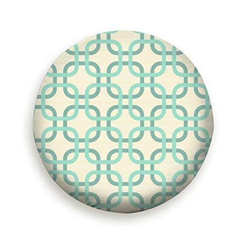 - Spare Tire Cover Round Corner Squares Turquoise Beige Geometric Vintage Polyester Water Proof Dust-Proof Universal Spare Wheel Tire Cover Fit for Jeep,Trailer, Rv, SUV and Many Vehicle