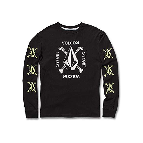 Volcom Big Boys' Mutiny Stone Basic Fit Long Sleeve Tee, Black, Medium