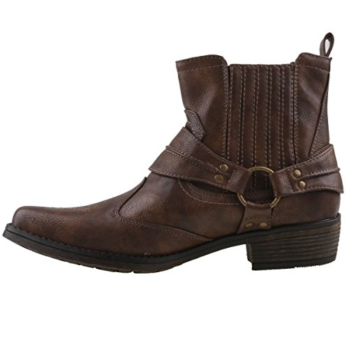 Western Stiefelette Marron Homme Santiags Mustang 5YTxgwdqn