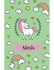 Alexis: Lined Writing Notebook Journal with Personalized Name, 120 Pages – Unicorn lover notebook, Perfect Gift ... unicorn Personalized Name Gift Journals)
