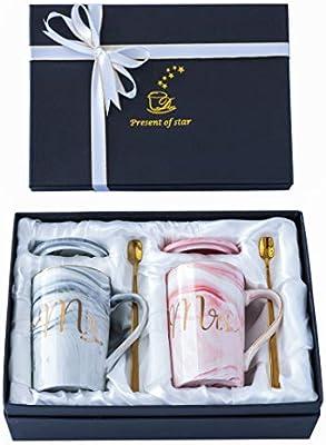 Amazon.com: Juego de tazas de café Jumway Mr and Mrs ...