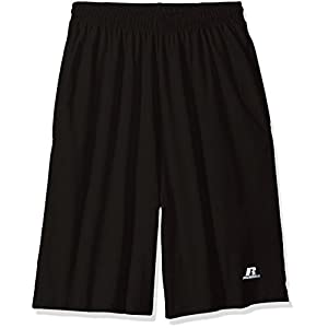 Russell Athletic Men's Big and Tall Cotton Jersey Short With Pockets, Black, 3X