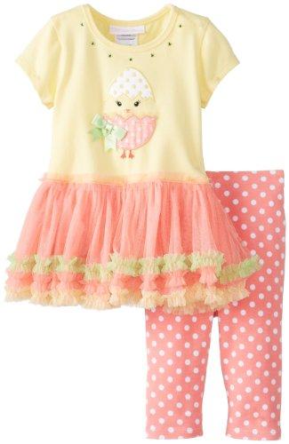 Easter Egg and Chick Tutu Set for Infant Girls