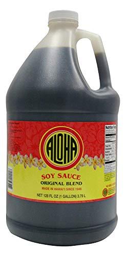 Aloha Hawaii Original Blend Hawaiian Shoyu Soy Sauce 1 Gallon