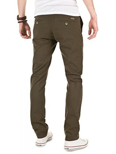 0414 Vert Homme Wotega Adriano Night Slim Designer forest Pantalon Chino qwwUXzCHx