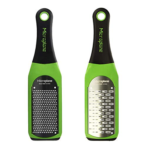 Fine Ribbon Grater - Microplane Artisan Fine Grater and Ribbon Grater, Green