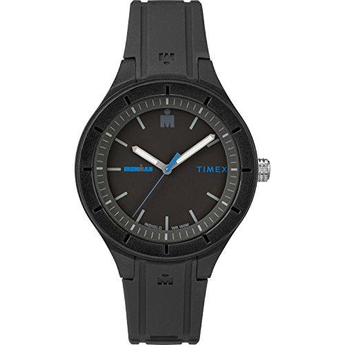 Timex TW5M17100 Ironman Essential Urban 38mm Black/Blue Silicone Strap Watch