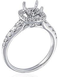 GH, SI1-SI2 Round brilliant 1/2 carat (0.50 ctw) 14K White Gold Diamond Enagement Ring