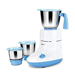 Pigeon by Stovekraft Glory 550 Watt Mixer Grinder with 3 Stainless Steel Jars for Dry Grinding, Wet Grinding and Making…
