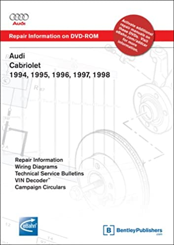 audi cabriolet 1994 1995 1996 1997 1998 repair manual on dvd rh amazon com