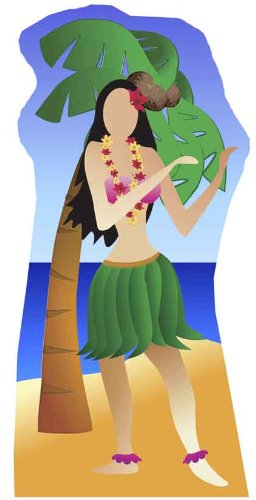 Hula Girl Stand-in - Beach Party Lifesize Cardboard Cutout / Standee / Standup