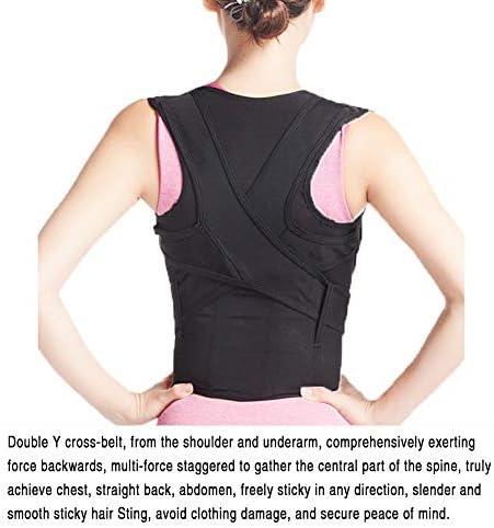 調節可能な姿勢装具、男性と女性の首の矯正理学療法のためのバックサポート改善された姿勢の痛みの軽減6サイズ (Size : M)