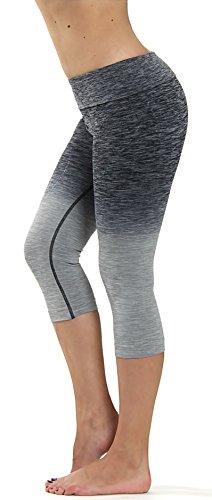 Prolific Health Fitness Power Flex Yoga Pants Leggings XS - XL (Medium, Ombre Gray)