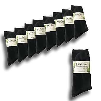 Mens Bamboo Dress Socks - Men's Bamboo Fibre Black Business Socks - 9 Pack Deal