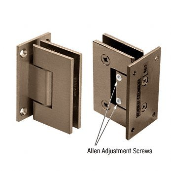 CRL Brushed Bronze Vienna 337 Series Adjustable Wall Mount Full Back Plate Hinge by C.R. Laurence