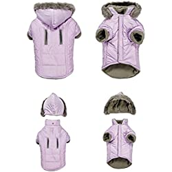 Dog Parka Jacket Quilted Thermal Thermapet Warm Quality Removeable Hood Coat