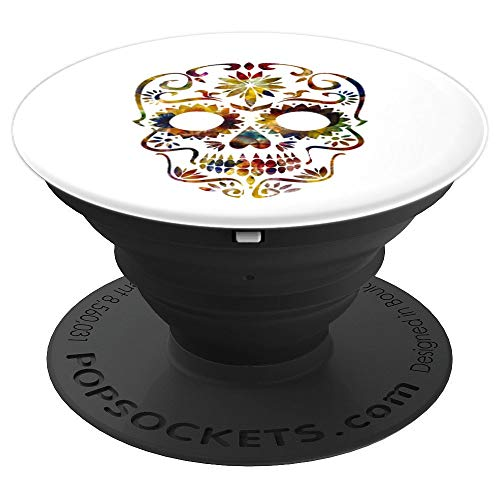 Day of the Dead Mask Tattoo Design for Women Gift - PopSockets Grip and Stand for Phones and Tablets