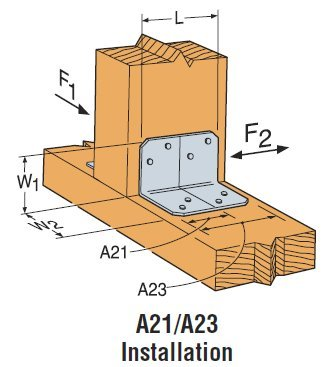 Simpson Strong Tie A23 18-Gauge Angle 200-per box