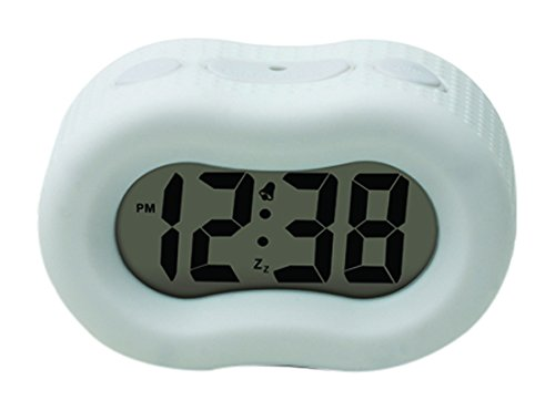 Timelink 88192A Rubber Smartlight Alarm Clock - Clock Rubber Green