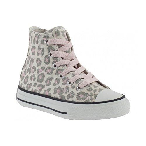 CONVERSE - Scarpe alte CONVERSE ALL STAR in tessuto con fantasia leopardata e dettagli rosa 643794C - 643794C - 38, Leopardata