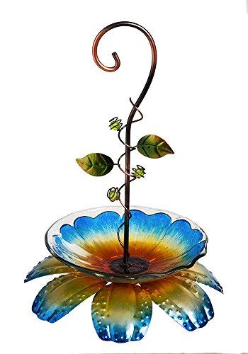 Evergreen Blue Floral Vine Hanging Bird Feeder