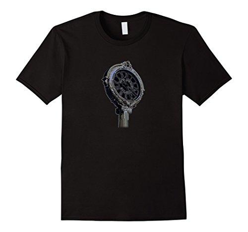 Mens Fifth Avenue Clock T-shirt (Flatiron District T-shirt) Medium Black