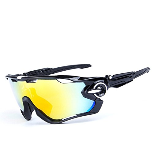 PLAYBOOK Road Mountain Cycling Glasses Goggles Eyewear Polarized Cycling Bicycle Sunglasses Oculos Gafas Ciclismo 3 Lens (Black/Fluorescent - Glasses Bike Best Mountain