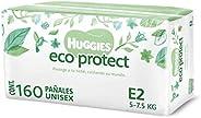 Huggies Eco Protect Pañal Desechable para bebé, Unisex, Etapa 2, Caja con 160 Pañales Desechables, Ideal para