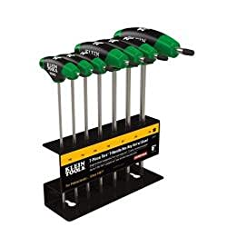 Klein Tools Jth67t Torx T-handle Hex Key Set With Stand, 6-inch (7-piece)