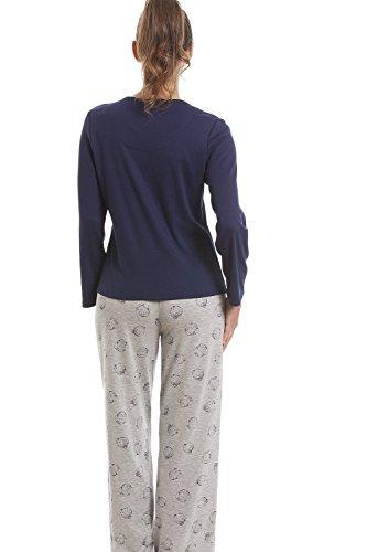 Conjunto de pijama - Motivo de osito - Azul marino Azul