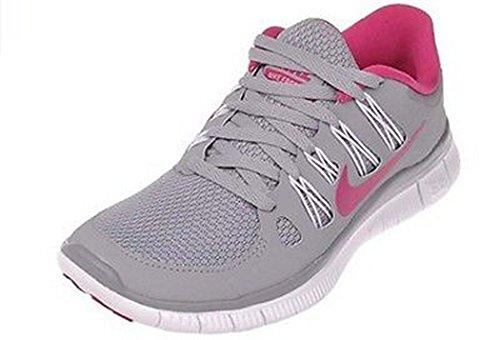 580591-010 Nike Womens Free 5.0+ Lupo Grigio / Rosa Bianco Taglia 5.5