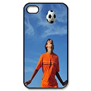 Beautiful Soccer Hard Plastic Back Case Cover For For Iphone 4,4S Case color9