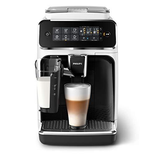 Philips Espressomachine 3200 serie – 5 koffievarianten – Touchdisplay –Automatische melkopschuimer –Perfecte temperatuur en aroma – Keramische maalschijven – EP3243/50