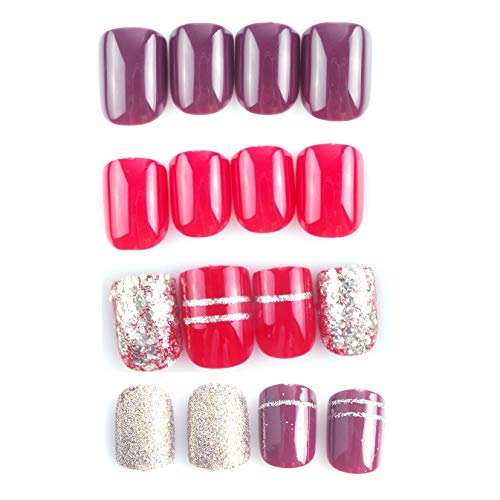 Black Almond Shape Press On Nails Coffin Matte Fake False Nails Set 20 Pieces Bringing More Convenience To The People In Their Daily Life Health & Beauty