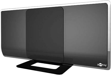 DVB-T2 Antena Activa con Amplificado HDTV/Full HD Antena para Interiores (Dab/DVB-T) Negro