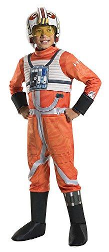 Rubies Costume Kids Classic Star Wars Deluxe X Wing Fighter Pilot Costume, Medium