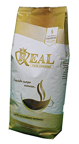 Intenso Whole Bean - Cafe Real Espresso Cafecito Cubano Intenso 100 % Whole Bean (2 X 2 Lbs) 4 Lib Cuban Coffee