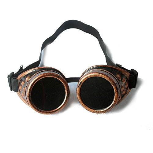 FLORATA DIY Steampunk Goggles, Retro Vintage Victorian Glasses Welding Cyber Punk Gothic Halloween Cosplay Goggles Retro Goggles