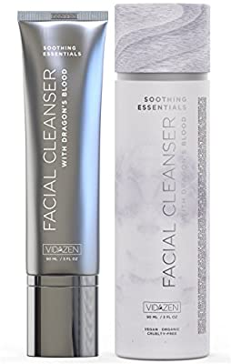 Vidazen Face Wash Cleanser for Acne with Organic Willow Bark Extract and Gentle Aloe Vera - Natural Antioxidant Anti Aging Facial Cleanser to Reduce Blemishes and Restore Balanced Complexion